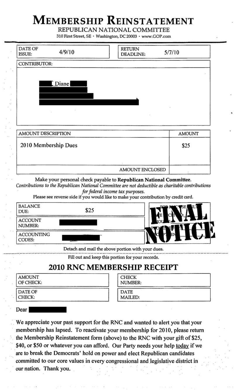 RNC Invoice (20100427)